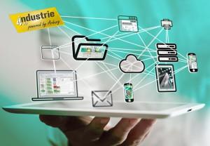 Vernetzung, ALS, Industrie 4.0, Wolken, Cloud, Medien, Hand, ipad, iphone