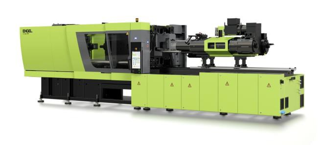 The all-electric injection moulding machine produces up to 1920 caps per minute