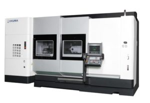 1.Okuma's MULTUS U5000 integrates seamlessly into an IoT-based environment and enables gear machining in-house